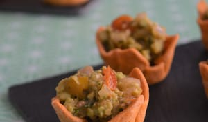 Spicy cups au guacamole