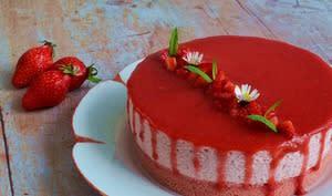 Cheesecake fraise sans cuisson