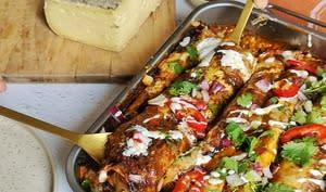 Enchiladas veggie à la Tomme de Savoie