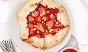 Petites tartes rustiques aux fraises