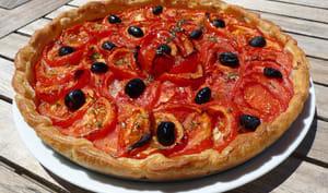La tarte aux tomates et aux amandes