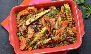 Salade d'épeautre aux légumes grillés