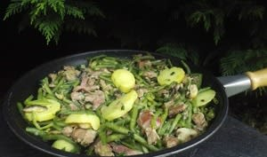 Poêlée de haricots verts façon périgourdine