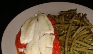Mijoté de merlan aux tomates et aux anchois