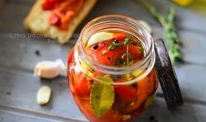 Poivrons rouges marinés à l'huile d'olive