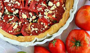 Tarte aux tomates et pesto basilic