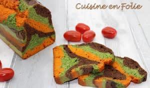 Cake marbré aux légumes