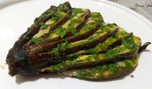 Éventail d'aubergine et raclette