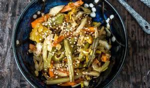 Pickles de légumes malais, les traditionnels acar awak