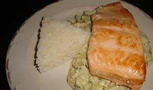 Pavé de saumon sauce à l'oseille
