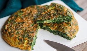 Trouchia, omelette niçoise aux feuilles de blette