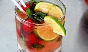 Cocktail Mojito framboise