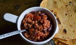 Tortillas de patate douce et chili sin carne