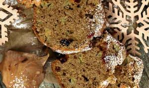 Cake aux mulberries cranberries et pommes