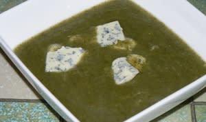 Soupe de cresson au bleu d'Auvergne
