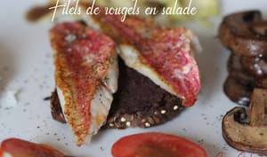 Filets de rougets en salade