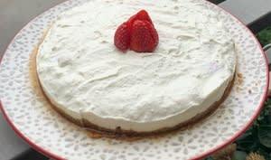 Cheesecake aux fraises, sans cuisson