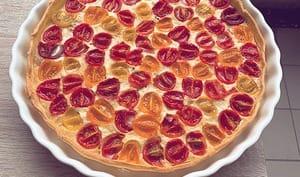 Tarte au thon et aux tomates-cerises