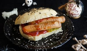 Hot dog de saucisses doigts