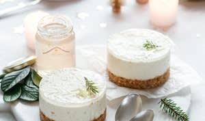 Cheesecake à la gelée de champagne