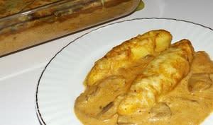 Gratin de quenelles au thon et à la bisque de homard