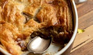 """Tourte végétarienne """"pot pie"""" à la normande"""