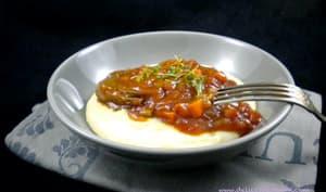 Osso bucco à l'italienne et sa polenta crémeuse au parmesan