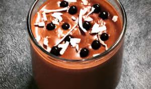 Crème au lait de coco et chocolat
