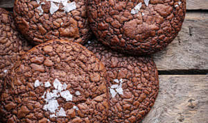 Cookies chocolat et fleur de sel