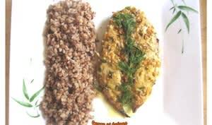 Filets de maquereaux cuits au four à la moutarde, au citron et à l'ail
