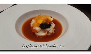 Queue de gambas caviar et bisque