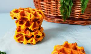 Gaufres salées aux carottes