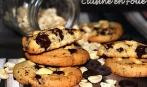Les cookies cacahuète chocolat