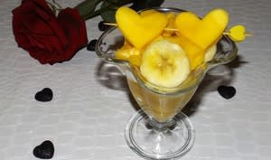 Salade de mangue et de banane au jus d'orange