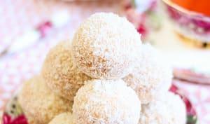 Boules de coco à la confiture d'abricot