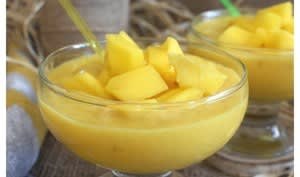 Crème de mangue au lait de coco