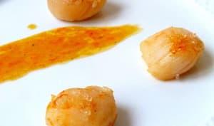 Saint jacques au beurre d'orange et citron caviar