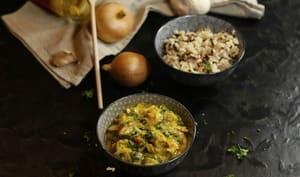 Curry de haddock aux épinards