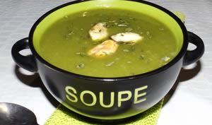 Soupe poireaux pommes de terre et moules Weight Watchers