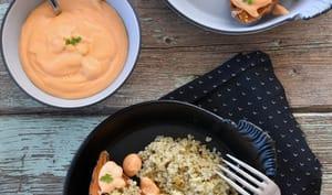 Patates douces farcies {quinoa et tofu aux herbes}