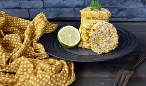 Croquettes de riz et lentilles corail aux épices
