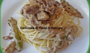 Carbonara de poulet et asperges