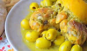 Poulet au citron confit à la marocaine