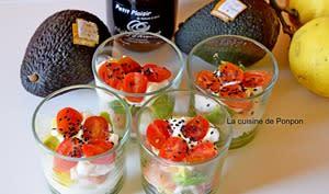 Verrine avocat saumon fumé et tomate