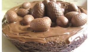 Nid de Pâques chocolat noisettes