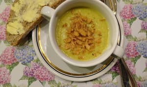 Soupe de panais aux lardons