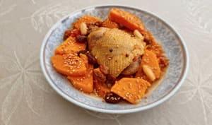 Tajine de poulet aux patates douces