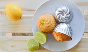 Muffins citron vert et noix de coco