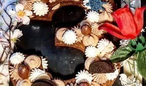 Number cake chocolats et praliné