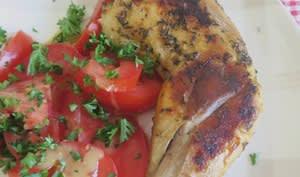 Cuisses de poulet marinées aux épices cajun, à la plancha
